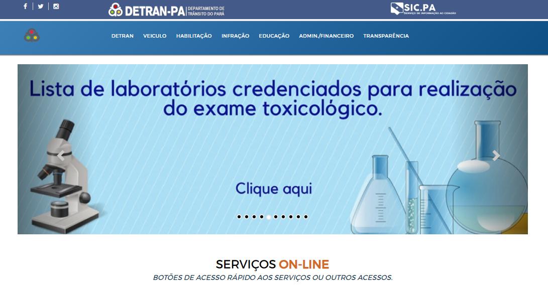 Consulta online DETRAN PA 2020