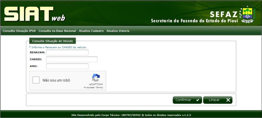 Consulta online IPVA 2020 PI